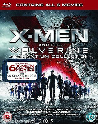 X MEN Wolverine Complete All 6 Movie Film Collection Blu Ray set New UK R2 3D