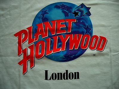 Planet Hollywood London White Tee Shirt Size L New Neu