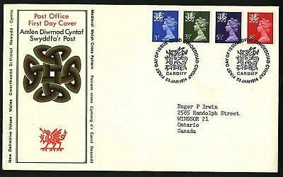 Wales 1974  Machins Combo FDC