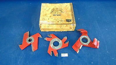 Lot Of 3 Freud Raised Panel Cutters UP160, UC202 & 1 Unmarked Barely Used s2318x