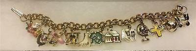 1950 's Girl Scout Charm Bracelet with COMPLETE SET of 12 Charms