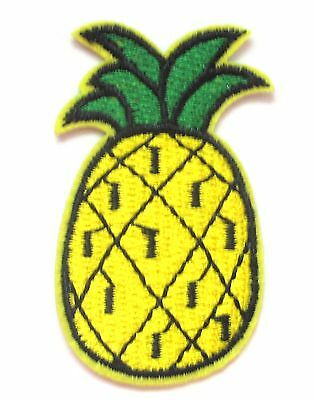 Pineapple Iron On Patch- Embroidered Fruit Applique Badge Crafts Sew Patches
