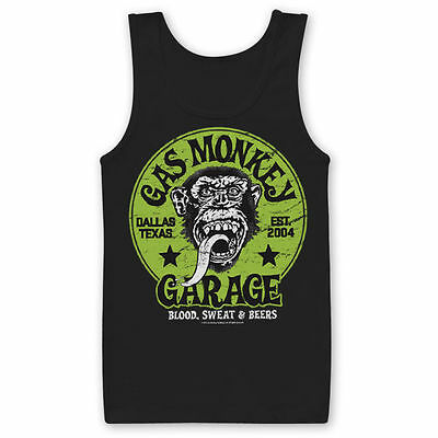 Gas Monkey Garage Green Logo Affe Blood Sweat & Beers Männer Men Tanktop Shirt