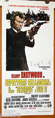 locandina film ISPETTORE CALLAGHAN - DIRTY HARRY Don Siegel Clint Eastwood