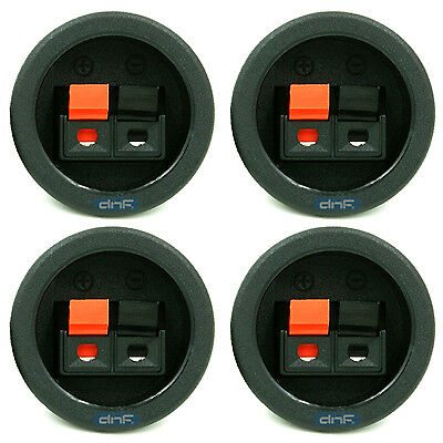 (4 Pack) Speaker Box  Push Spring Terminal Cup Connector Subwoofer - Ships Today
