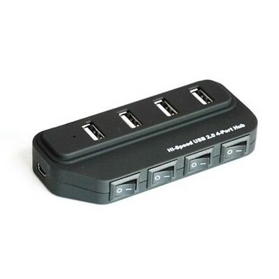 Hub Multiporta Usb 4 Posti Con Interruttore Switch Per Pc Notebook Multiprese