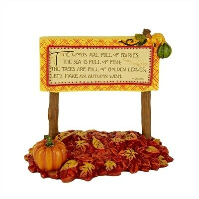 Mary Engelbreit Fairy Gardens Mini - Autumn Wish Sign