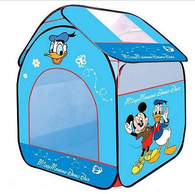 New Donald Duck & Mickey Mouse Baby Child Play Dollhouse / Toy Tents Blue