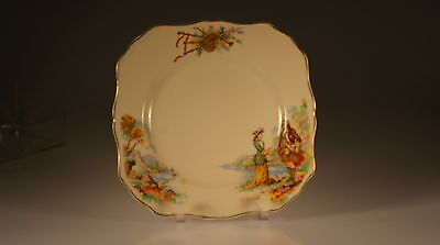 """J & G Meakin China """" Bonnie Prince Charles""""  Square Lunch Plate, England"""