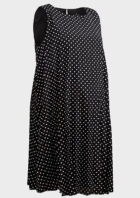 NEW Maternity Dress Black Polka Dot Pregnant Women Baby by Rock a Bye Rosie UK