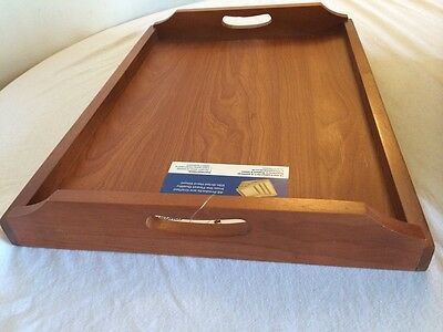 Wooden Tea Tray Serving Tray with handles 36CM X 25CM X 6CM Excellent Quality.