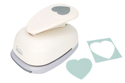 """2 3//16/"""" inch X-Large Scalloped Square Shape Paper Craft Lever Punch Scrapbooking"""