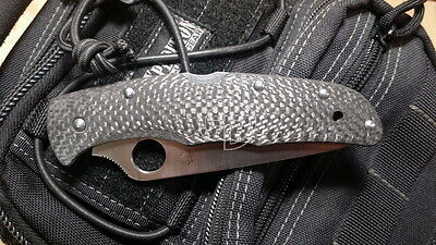 Spyderco Endura 4, Custome scales, 3D Classic Carbon (Knife not included)