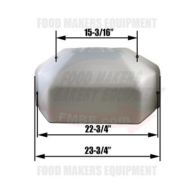 Erika Record 11/30 Divider Rounder Square Rear Cover.  S009/f