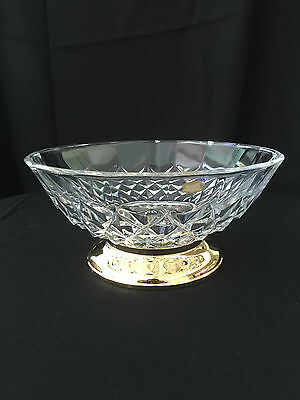 Val St Lambert footed crystal bowl Signed!