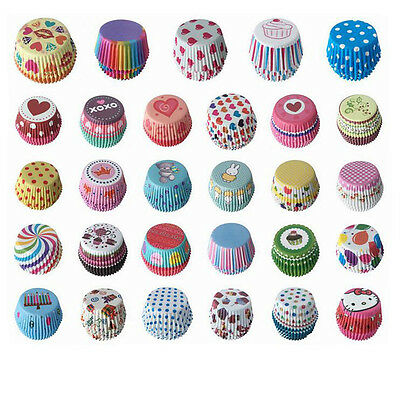 100PCS Xmas Paper Cake Cup Chocolate Liners Baking Cupcake Cases Muffin New 2016