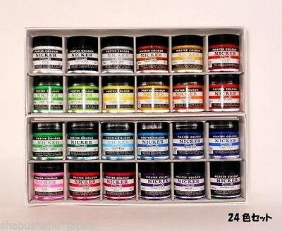 New ANIME Nicker Gouache Poster Color Paint 40ml 24bottles F/S