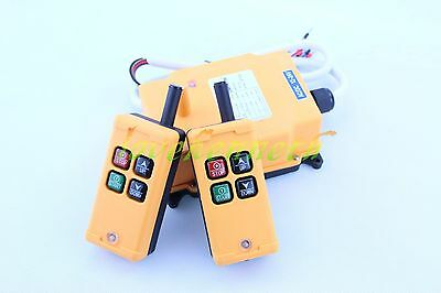 12-440V 2 Tansmitters 4 Channels Industrial Wireless Crane Hoist Remote Control