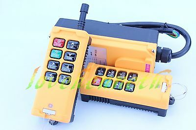 12-440V 2 Transmitters 8 Channels Industrial Wireless Crane Hoist Remote Control