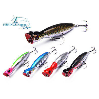 Newly Popper Surface Lures Topwater Hard Fishing Tackle Baits Select Color, Size