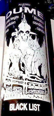 D.U.M.E. (DUME) 7 DAY UNSCENTED BLACK SKULL CANDLE IN GLASS (M.C.M.E.) dume