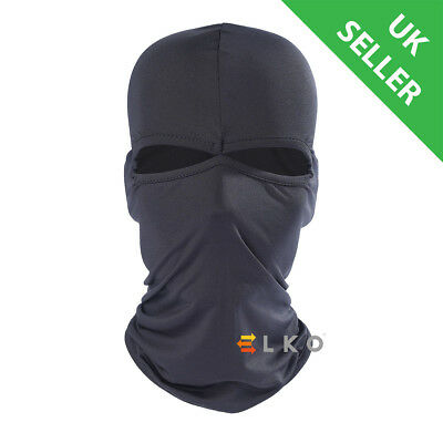 UK Black Balaclava Mask Under Helmet Winter Warm Army Style Neck Warmer