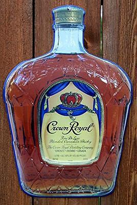 Crown Royal Bottle Metal Sign, New, Free Shipping