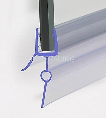 HNNHOME Rubber Plastic Bath Shower Screen Seal Strip For 4-6mm Glass Door Cur...