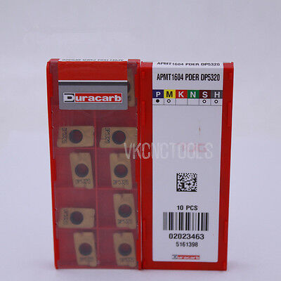 10Pcs Duracarb APMT1604PDER DP5320 Carbide Inserts for Indexable Milling Tools