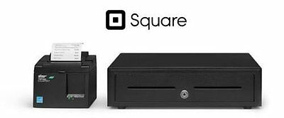 SQUARE POS BUNDLE - USB Receipt Printer and Cash Drawer with Cables included