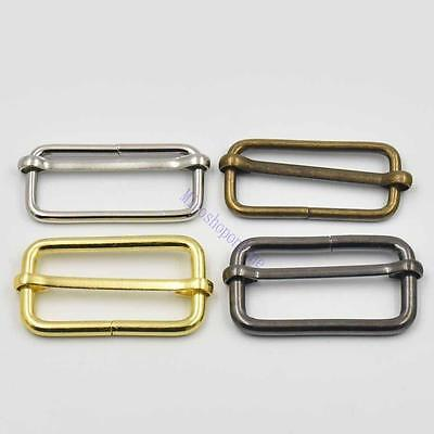 "1.5"" 38mm Metal Triglides Slide Adjustor Dee ring Hook Snap Webbing Bag Buckle"