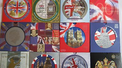 Brilliant Uncirculated Royal Mint UK coin collections 1982 to 2008 choose year