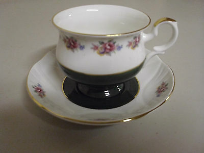 Crown Staffordshire Bone China Tea Cup + Saucer