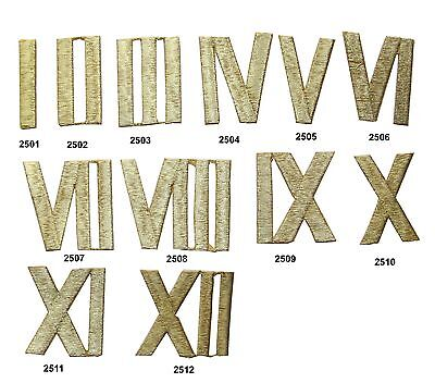 Gold Roman Numeral, Number Embroidery Iron On Applique Patch