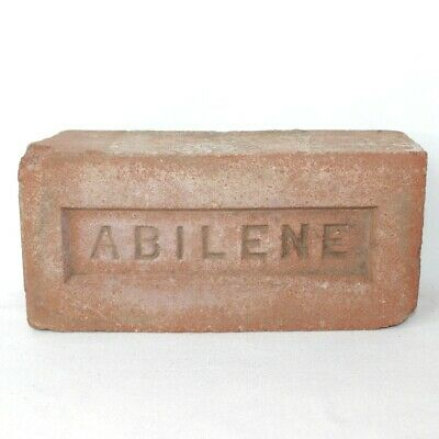 Vintage Used Abilene Texas Red Brick Paving Garden Architecture Decor Walk Way • CAD $12.59