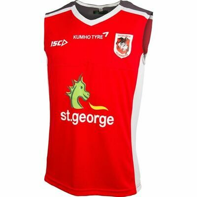 St George Dragons NRL Red Training Singlet 'Select Size' S-3XL BNWT6