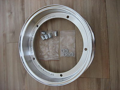 "Vespa Tubeless SIP Wheel Rim 10"", Painted Silver"