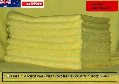 20 x 400GSM Microfibre Cleaning Buffing Cloth Towel for Car & Home Thick & soft