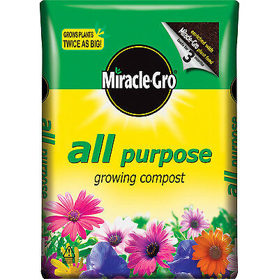 Miracle Gro All Purpose Enriched Compost Bag 50L Plant Food Growing Compost New