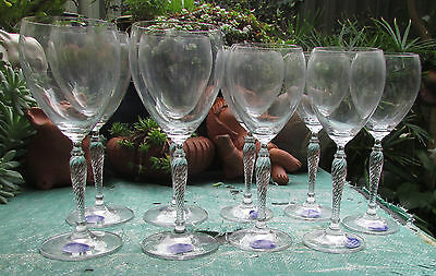 Royal Doulton Crystal Tennyson Wine Glasses Goblets X 9 Matching