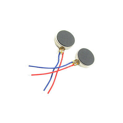 10PCS Coin Flat Vibrating Micro Motor DC 3V 8mm For Pager and Cell Phone Mobile