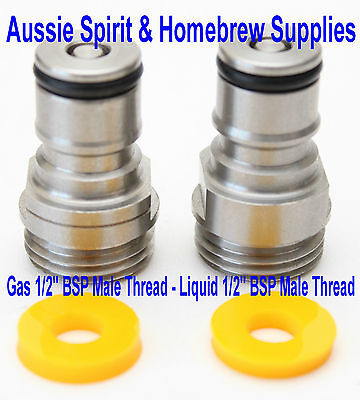 "New Turret Ball Lock 1/2"" BSP Male Thread Tank Plugs Mytton Rheem Home Brew Kegs"