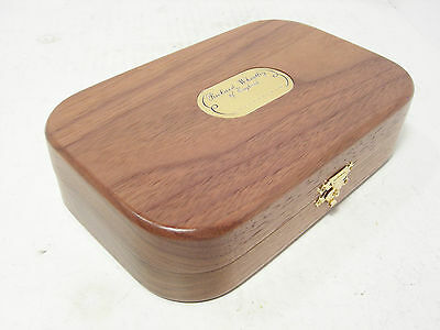 Wheatley Deluxe Walnut Hand Crafted Wooden Fly Box & 68 x Trout Flies