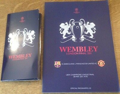Manchester United Barcelona Programme Ticket Champions League Final Wembley 2011