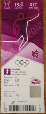 Olympic Football Final Wembley London 2012 Mexico Brazil Actual Ticket