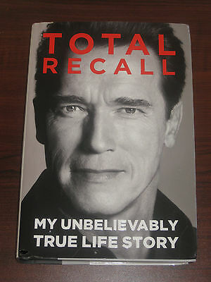 Arnold Schwarzenegger Total Recall Signed Hardcover Book - Brand New