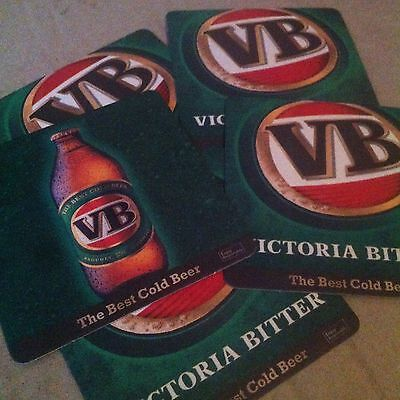 5 Victoria Bitter Vb Collectable Coasters Square Brand New