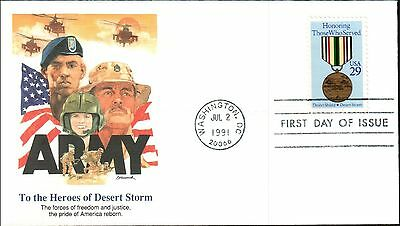 ARMY - HEROES OF DESERT STORM (Scott U623) 1991, No Address, FDC *RARE*