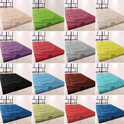 Large Small Thick Plain Modern Shaggy Rugs Rug Mat Bath Bedroom Home Decor Sale