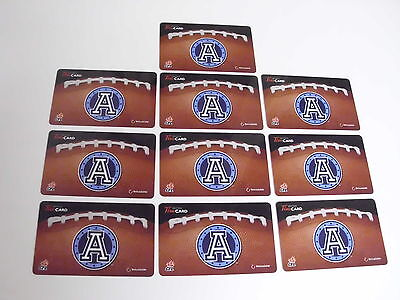 Lot Of 10 Tim Hortons Gift Cards Card Toronto Argonauts No $ Value Free Shipping